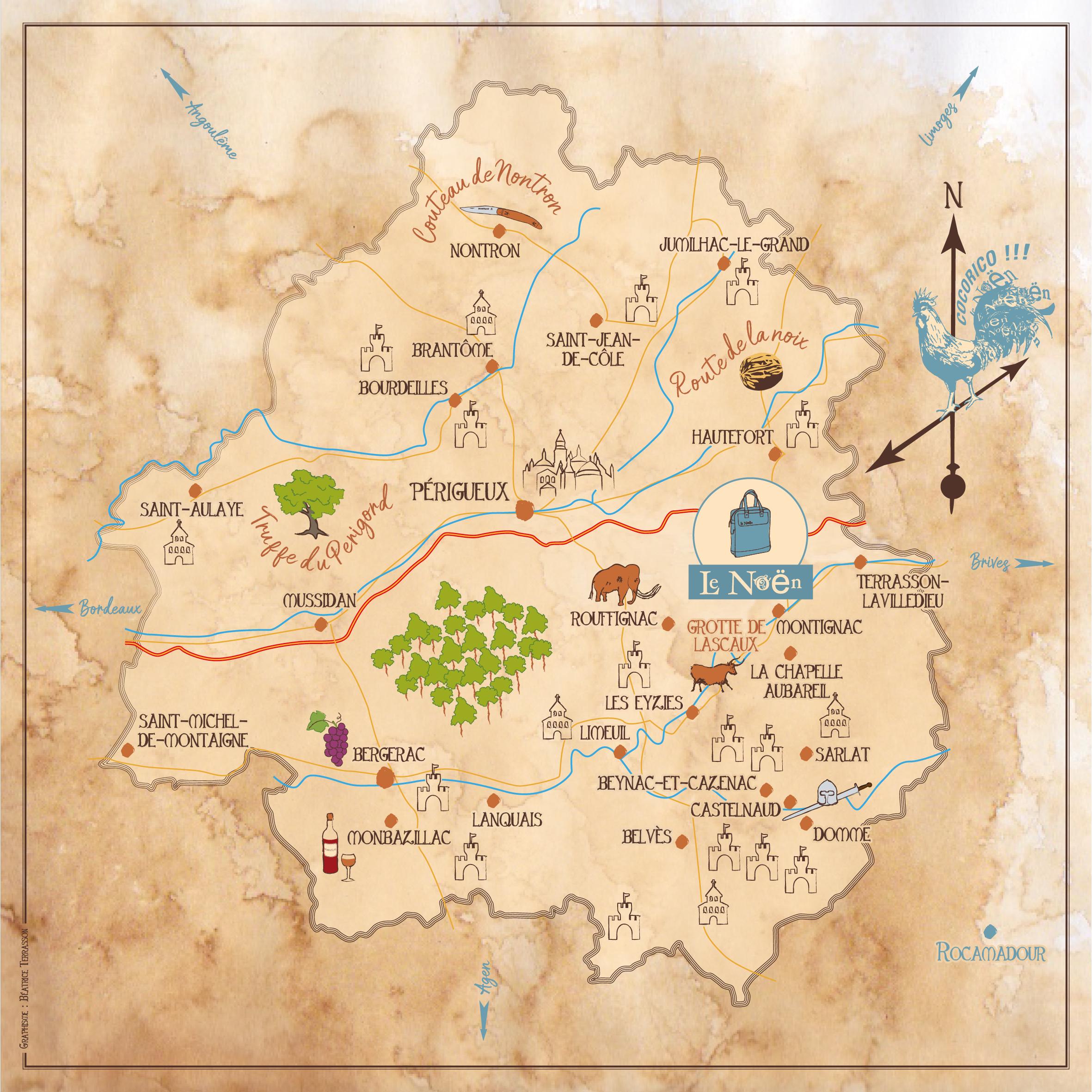 Où nous trouver ? Dans le Périgord en Aquitaine. France