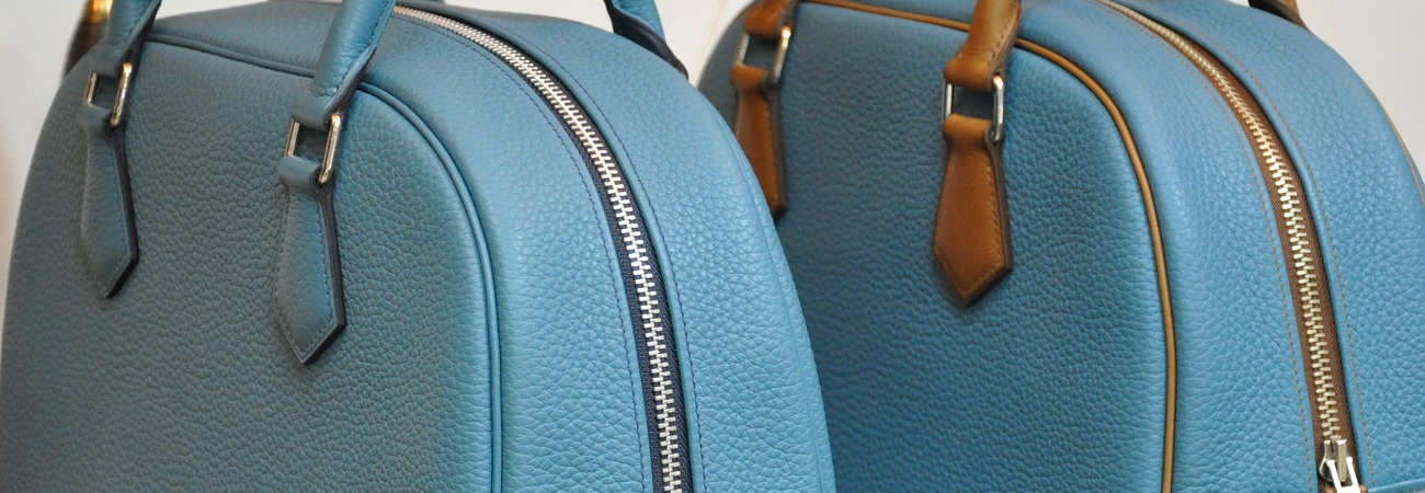 Custom-made and personnalized creations made by skilled leather goods crafstmen in France.