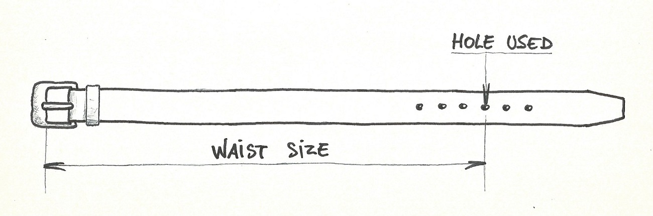 How to take your waist size to buy a French leather belts made by craftsmen? Here the solution.