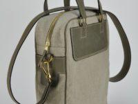 Sac en vachette et lin, léger et original. Design et fabrication française.