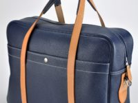 Luggage, bag, business bag for man or woman in leather grained, creation by luxury French designer