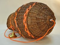 Wicker and leather lamps are limited series for your home. Design and creation bu LE NOËN leather goods maker in France.