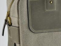 Sac pour tous les jours ou week-end en vachette couleur bronze et lin. Design et Création française.