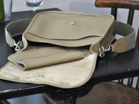 Woman's bag in taurillon leather, limited series created by LE NOËN leather goods crafstmen in Provence. France