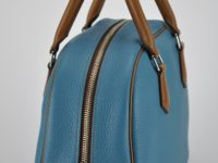Taurillon bag fashion bag for woman, handmade in France by leather goods craftsman.