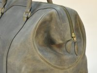 Luggage in cowhide, became more bigger when he's full. Perfect luggage for man who love travel. Made in France